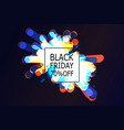 black friday sale banner with abstract light vector image