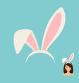 bunny ears accessory icon vector image vector image