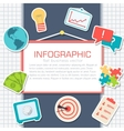 Business comerce elements on white background vector image
