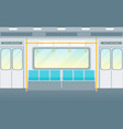 cartoon empty subway train card poster vector image