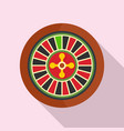 casino wheel icon flat style vector image vector image