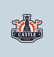 castle pawn logo sign symbol icon vector image vector image
