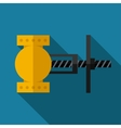 color flat valve icon vector image vector image