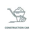 construction car line icon vector image vector image