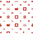 cord icons pattern seamless white background vector image vector image