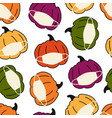 corona pumpkin seamless pattern pumpkins vector image vector image