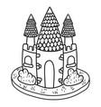 cute fairytale castle icon vector image vector image