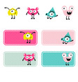 cute monsters creations vector image vector image