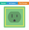 Electric outlet icon vector image vector image
