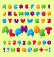 english balloon colorful alphabet on background vector image vector image