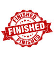 finished stamp sign seal vector image vector image