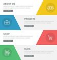 Flat design concept for website template - about vector image