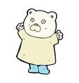 funny comic cartoon polar bear vector image vector image