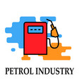 gas station icon symbol oil and petrol industry vector image vector image