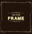 geometric line frame template vector image vector image
