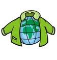 globe jacket vector image vector image