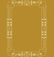 golden background with golden embossed art deco vector image vector image