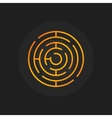 Golden circle maze icon vector image