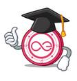 graduation aeternity coin character cartoon vector image vector image