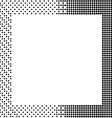 halftone backgroundhalftone dots frameabstract vector image vector image