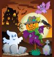 halloween scarecrow theme image 3 vector image vector image