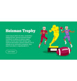 heisman trophy and american football players vector image vector image