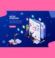 job presentation web page banner vector image