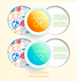 learning infographic concept vector image vector image