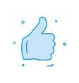 like icon design vector image vector image