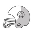 Line football helment to uniform to play sport vector image
