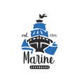 marine legendary logo est 1976 design element for vector image