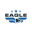 modern eagle logo design vector image vector image