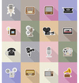 multimedia flat icons 18 vector image vector image