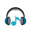 music player sound headset vector image vector image