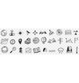 navigation tools and equipment doodle set vector image vector image