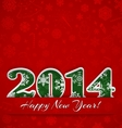 New year 2014 background vector image