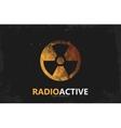 Nuclear logo Radioactive logo design Radiation vector image