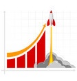 office infographics showing growth rates sales vector image