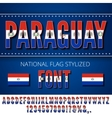 Paraguay Flag Font vector image vector image