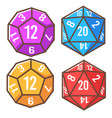 polyhedron dice cube with numbers playing games vector image