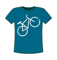 Print of bicycle T-shirts template vector image vector image