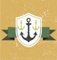 retro vintage anchor vector image vector image