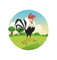 rooster cartoon colorful design vector image