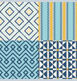 seamless geometric textile background vector image vector image