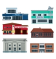 Service city buildings vector image vector image