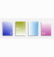 set colorful gradient abstract covers vector image vector image