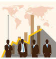 Silhouette people of Business concept vector image vector image