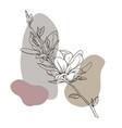 sketch spring flowers magnolia vector image vector image