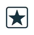 star icon Rounded squares button vector image vector image