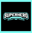 super hero power full typography t-shirt graphics vector image vector image